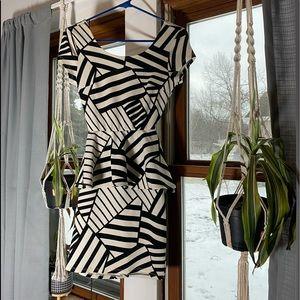 Charlotte Russe Black & White Date Night Dress